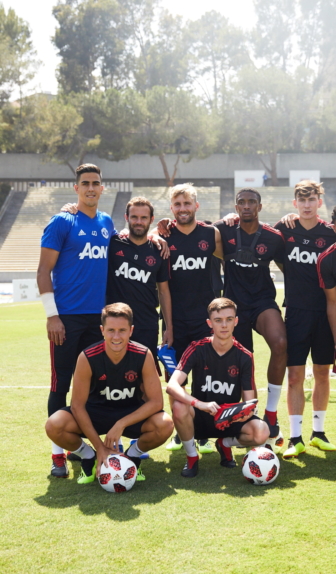 Picture TNFreestyle / Tom Nolan training with Manchester United in LA